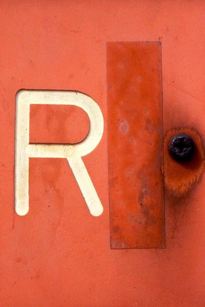 Letter R Abstract Brooklyn Minimalist Print – Sherry Mills