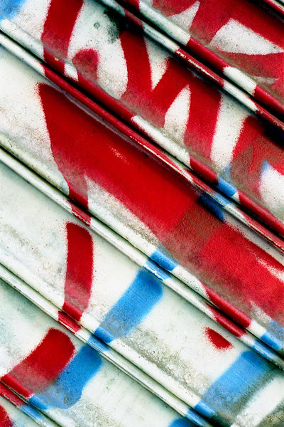 Red White Blue Abstract Graffiti NYC Print – Sherry Mills