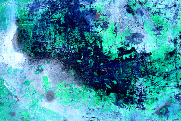 Trolley Top Abstract NYC Green Paint Print – Sherry Mills