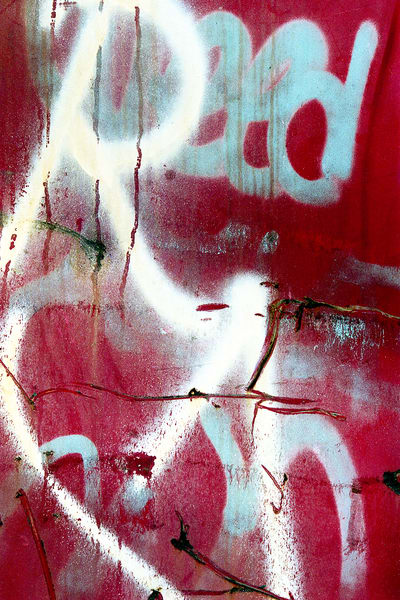 Abstract Expressionist NYC Graffiti Print – Sherry Mills