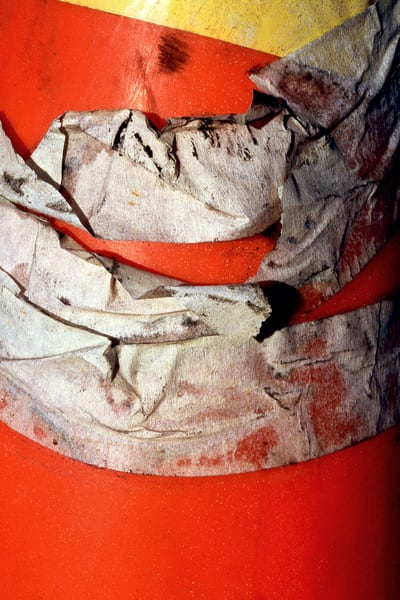 Orange San Diego Cone Abstract Tape Fine Art – Sherry Mills