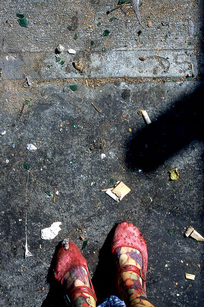 Bowery Me Abstract NYC Sidewalk Shoes Print – Sherry Mills