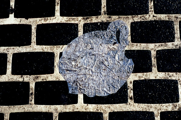 Canal Street Plastic Bag Abstract Art Print – Sherry Mills