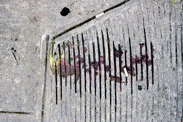 Abstract NYC Sidewalk Ice Cream Spill Print – Sherry Mills