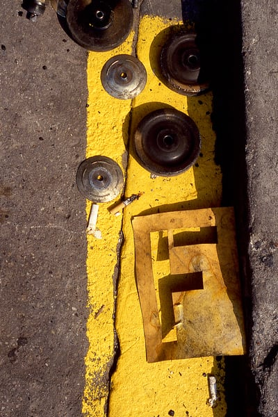 Yellow Letter F Abstract Chinatown Print – Sherry Mills