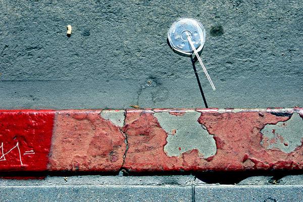 LA Soda Abstract Red Sidewalk Fine Art Photo – Sherry Mills