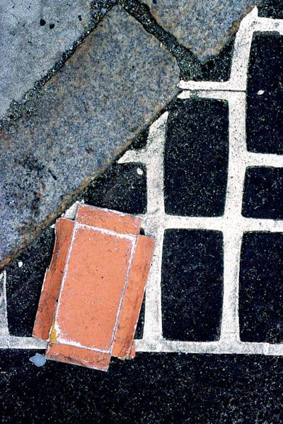 Grid Carton Abstract NYC Sidewalk Print – Sherry Mills