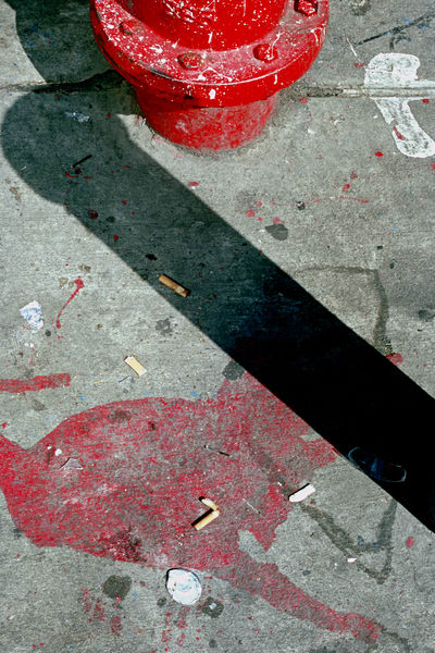 Abstract NYC Red Hydrant Street Photography – Sherry Mills