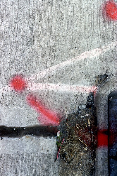 Abstract Midtown Sidewalk Spray Paint Print – Sherry Mills