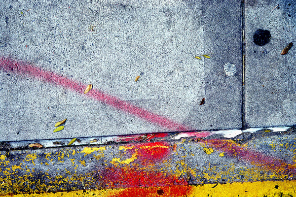 Cheerful Abstract NYC Sidewalk Detail Print – Sherry Mills