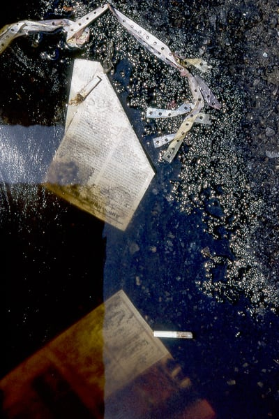 Times Square NYC Abstract Film Puddle Print – Sherry Mills