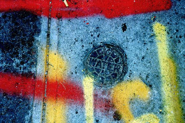 NYC Sidewalk Water Utility Graffiti Fine Art – Sherry Mills