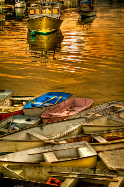 Maine Dinghies At Sunset Photography Art | Cardinal ArtWorks LLC