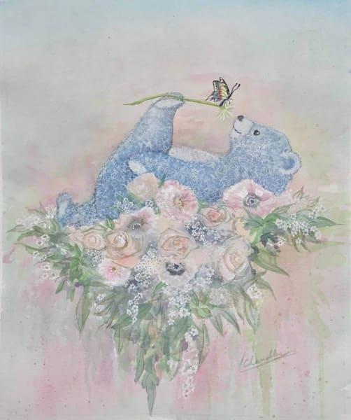 Nursery, baby, bear,  bouquet
