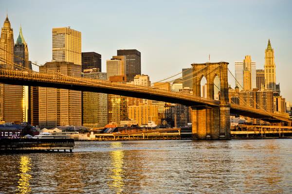 Brooklyn Bridge Sunrise Photography Art | Cardinal ArtWorks LLC
