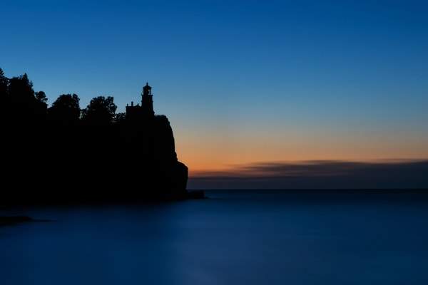 Blue Dawn At Split Rock Lighthouse Photography Art | William Drew Photography