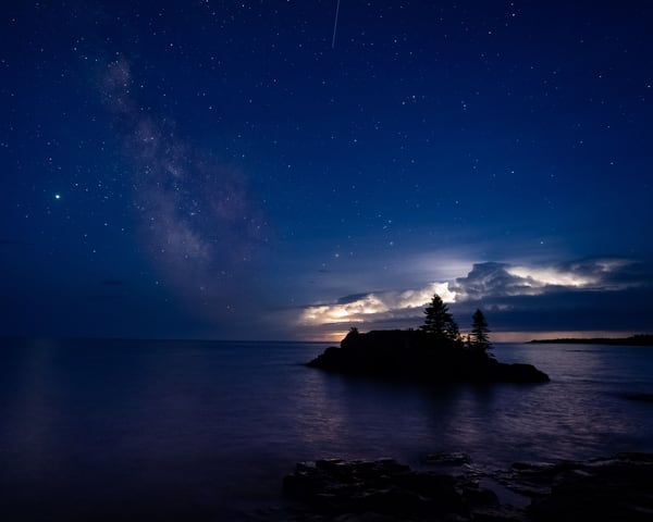 Jupiter The Milky Way Meteors And A Thunderstorm At Hollow Rock Photography Art | William Drew Photography