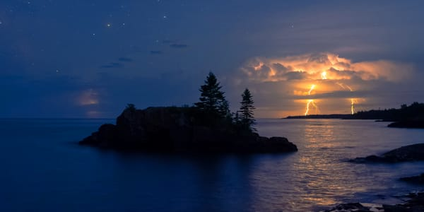 Lightning At Hollow Rock Photography Art | William Drew Photography