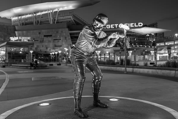 Rod Carew Statue At Target Field Black And White Photography Art | William Drew Photography