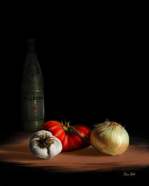 Veggies & Pellegrino Art Art | Sharon Beth
