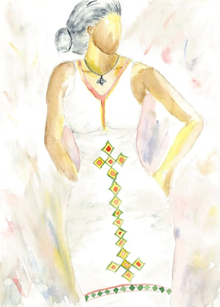 My Ethiopia  Watercolor Print  Art | Anonymous Art Studios