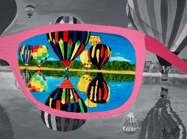 Through My Rose Colored Glasses Art | Coat Of Many Colors