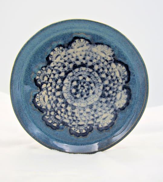 Handbuilt Ceramic Clay Plate Doily Design