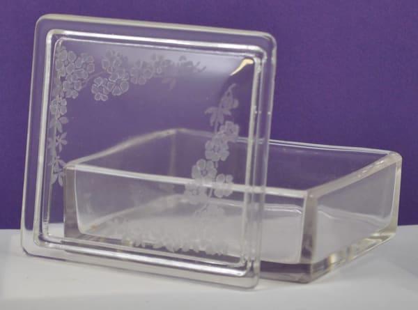 Diana Rossell - original artwork - glass - glass engraving - Trinket Box