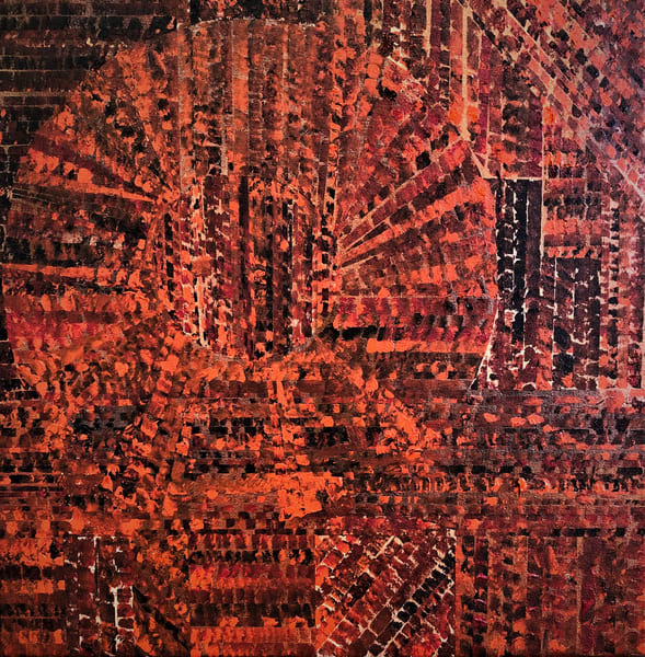 Burnt Orange Majestic Art | Martsolf Lively Contemporary