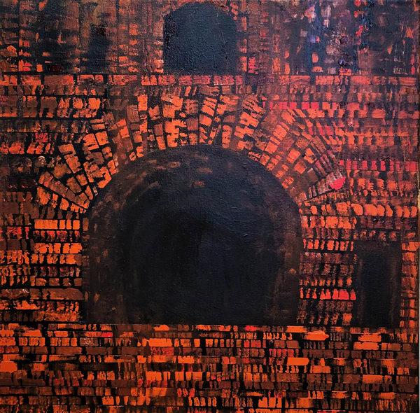 Burnt Orange Triple Option Art | Martsolf Lively Contemporary