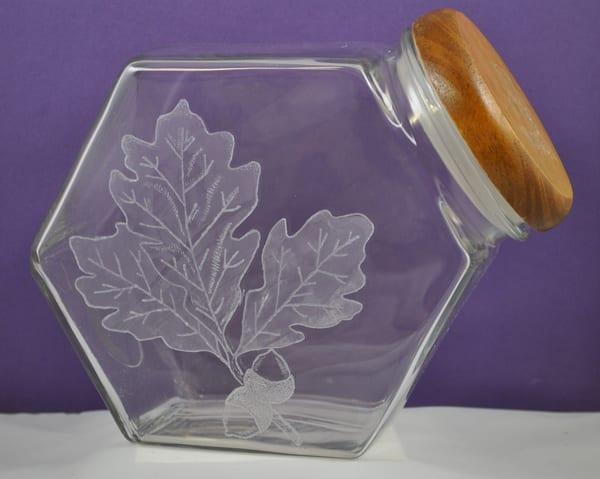 Diana Rossell - original artwork - glass - glass engraving - nature - Falling Leaves