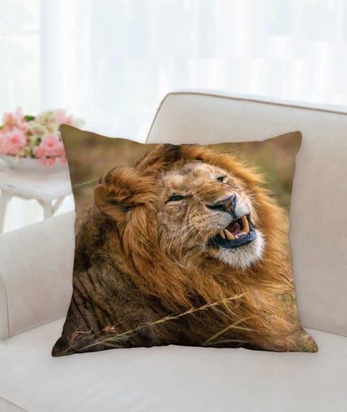 Pillow   Windblown Lion | Carol Brooks Parker Fine Art Photography