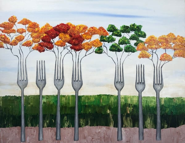 The Forks Of Autumn Art | Martsolf Lively Contemporary