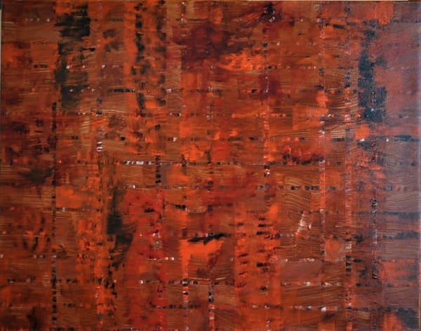 Burnt Orange Integrity Art | Martsolf Lively Contemporary