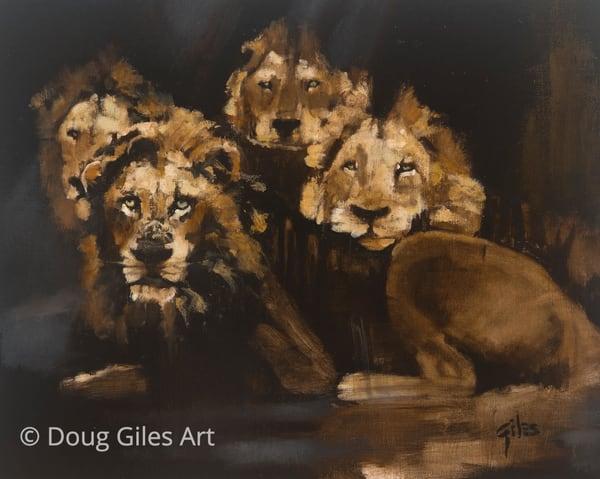 Daniel's Lions Art | Doug Giles Art, LLC