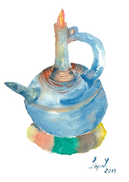 Jebena In Blue/ Watercolor Art | Anonymous Art Studios