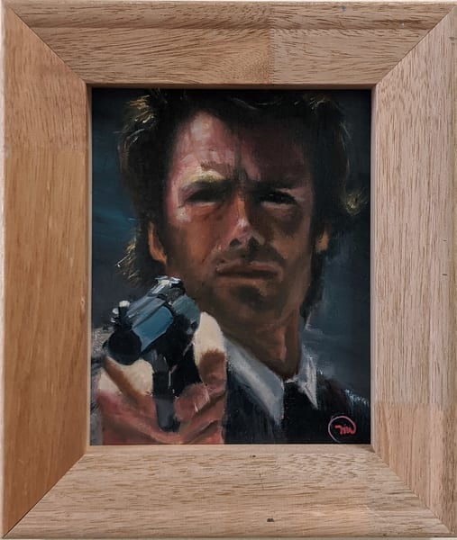 Michelle Musselwhite - original artwork - oil - celebrity - Clint Eastwood - Smith Wesson and I