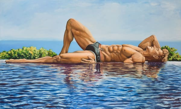 """""""On the Water"""" by artist, Anton Uhl"""