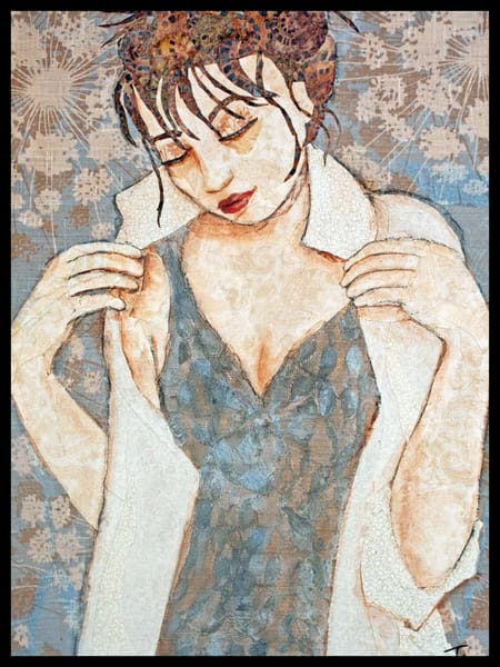 Contemplation by Sharon Tesser - Fine Art In Fabric