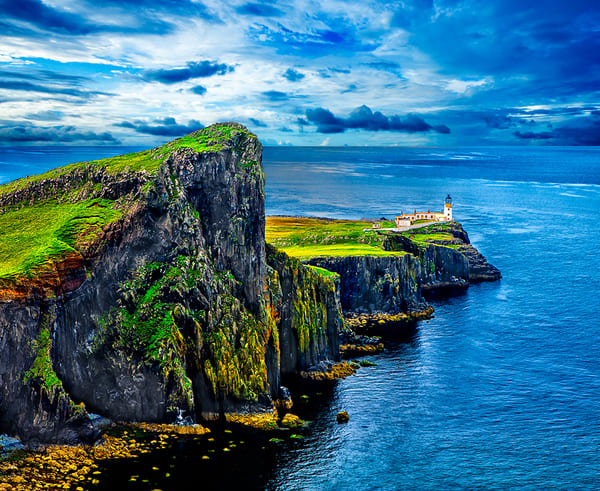 Neist Point Lighthouse - Art of Scotland By Christopher Gatelock