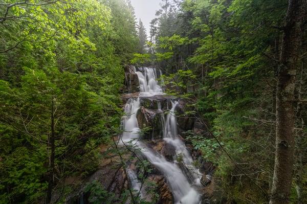 Katahdin Stream Falls   Cloudy Morning Photography Art | Richard J Snow Photography