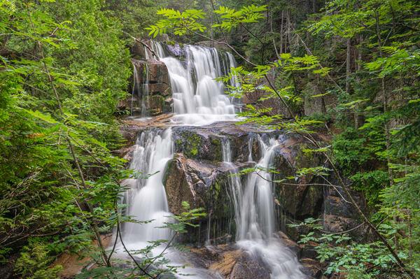Katahdin Stream Falls   Upper Fall Photography Art | Richard J Snow Photography