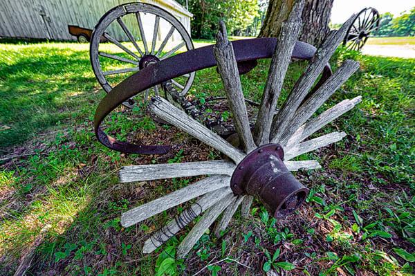 Run Down Wagon Wheel Photography Art   Richard J Snow Photography