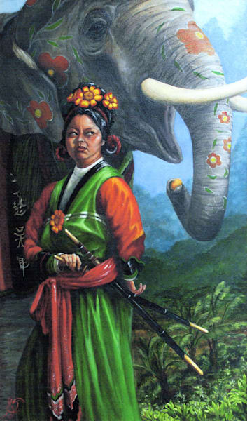 Trieu Au, Joan Of Arc Of Vietnam Art | Roxana Sinex Art