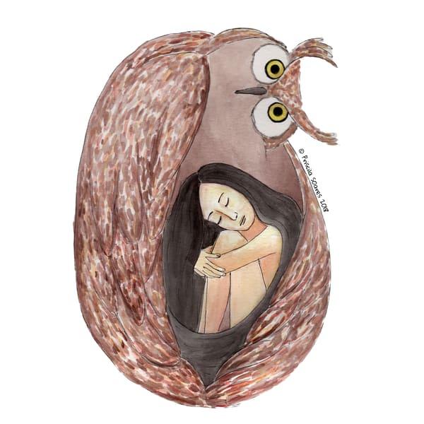 Protector Owl Art | Priscila Soares - MyLuckyEars