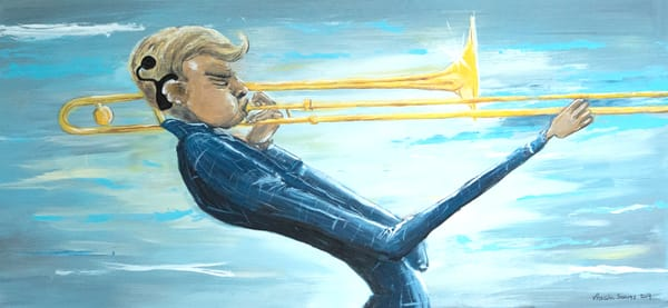 The Trombone Player Art | Priscila Soares - MyLuckyEars