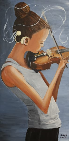 The Violin Player Art | Priscila Soares - MyLuckyEars