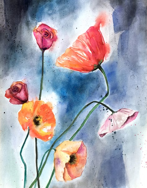 Abstract wildflower archival print