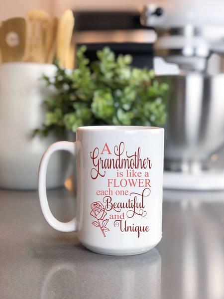 A Grandmother Is Like A Flower Mug