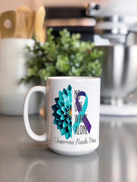 Suicide Awareness - No One Walks Alone Mug
